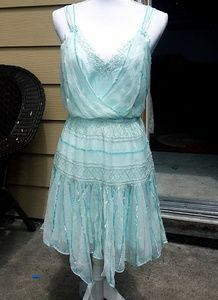 NWT FREE PEOPLE ODE TO TEA beaded asymmetrical dre